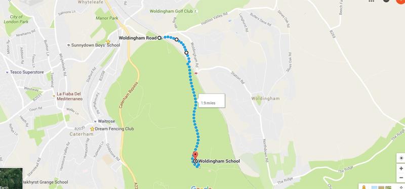 Woldingham School map 800